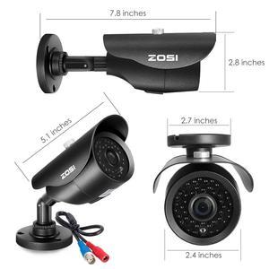 Image 3 - ZOSI نظام الدائرة التلفزيونية المغلقة 8CH 1080p DVR مع 2.0MP الأشعة تحت الحمراء مانعة لتسرب الماء في الهواء الطلق كاميرا مراقبة للمنزل نظام 8CH DVR عدة