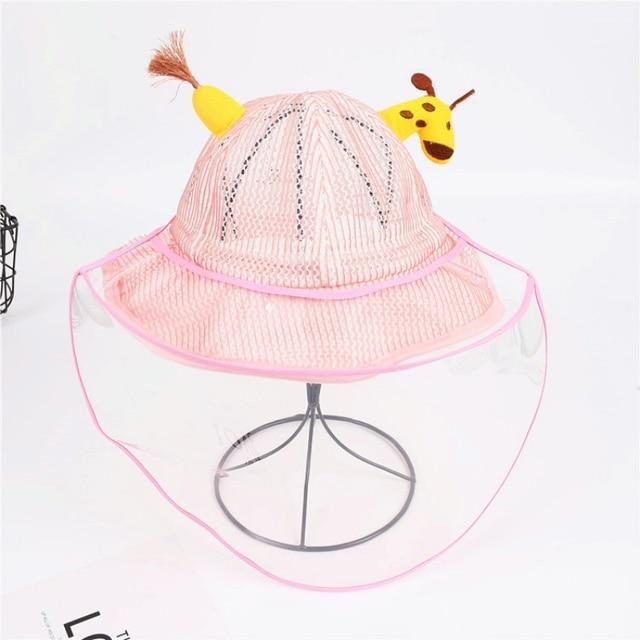 Children's Protective Hat Exquisite Handmade Straw Sun Hat Anti-fog Anti-saliva Korean Fisherman Hat (removable Face Mask) 4