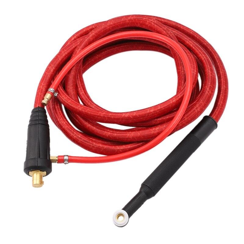 Heißer Verkauf WP9F 4M Rot Super Weiche Schlauch Geflochtene Luft-Gekühlt Komplette Wig-schweißbrenner 35-70 stecker