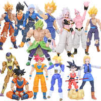 Box 11.5-17 Cm Super Saiyan Son Goku Vegetto Vegeta Trunks Pvc Action Figure Dragon Ball Z Modello di Raccolta bambole Giocattoli Figurine