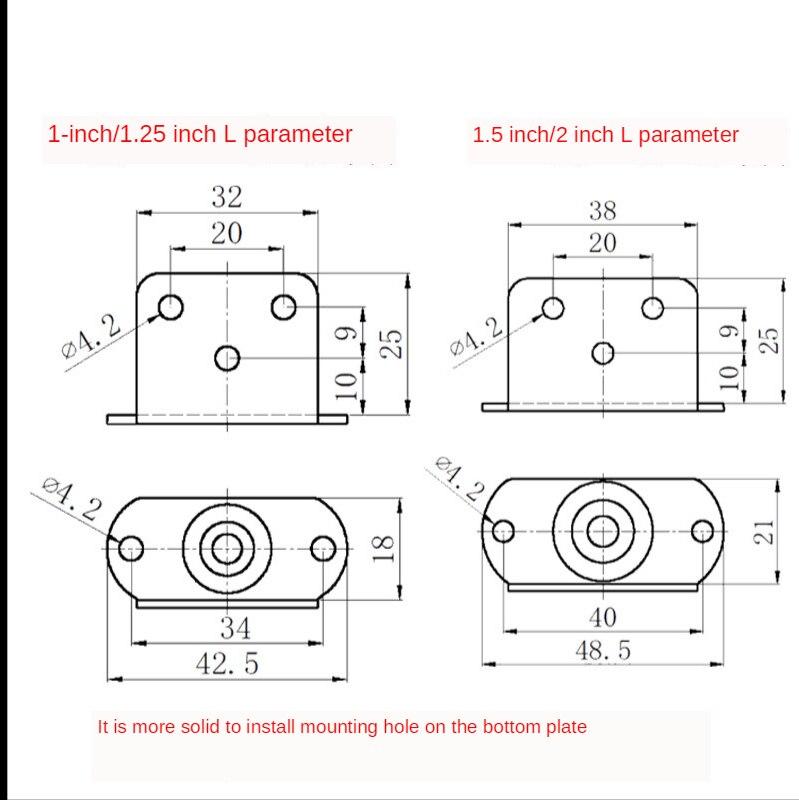 """4 pçs 1.5 """"rodízio de móveis l inserção rodas borracha macia rodízio giratório roda de rolo prata para berço do bebê cama acessório doméstico-5"""