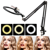 26cm LED Ring Light Photo Studio Camera Light Photography Dimmable Video light for Youtube Makeup Selfie with Tripod Phone clip