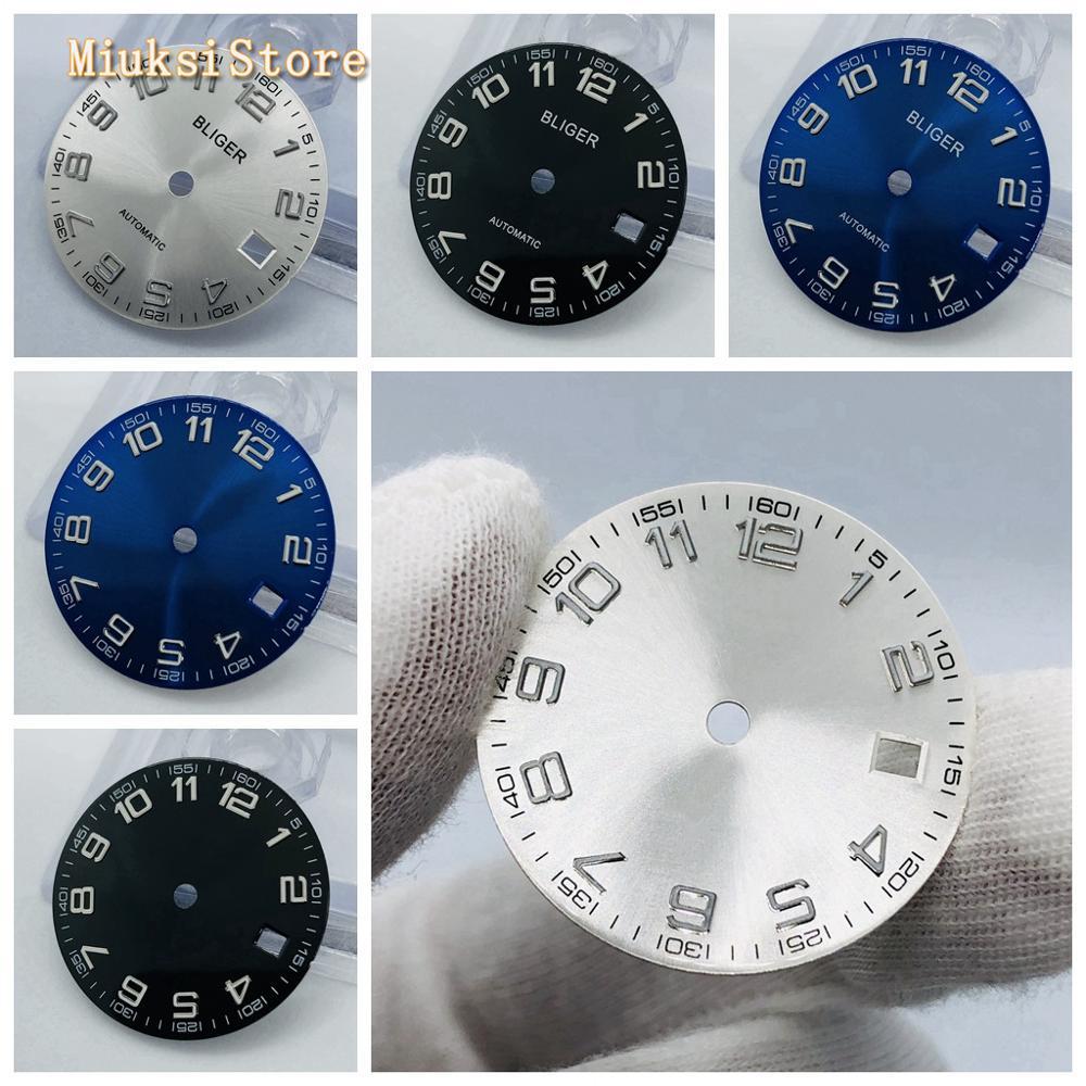 1PCS 29.2mm Sterile Blue Black Silver Watch Dial Fit ETA 2836/2824 Mingzhu DG2813/3804 Miyota 8215 821A 8205 Automatic Movement