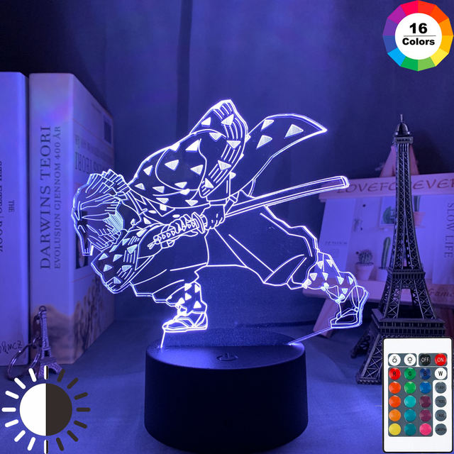 16 COLOR WITH REMOTE DEMON SLAYER 3D LED LAMP (9 VARIANA)