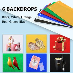 Image 5 - PULUZ 20cm Mini LED Ring Light box Lightbox Photo Studio Box Photography Light Studio Shooting Tent Box Kit & 6 Color Backdrops