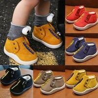 Детская мягкая теплая обувь для кроватки зимние ботинки для малышей, новорожденных девочек и мальчиков, осенне-зимняя нескользящая обувь, ...