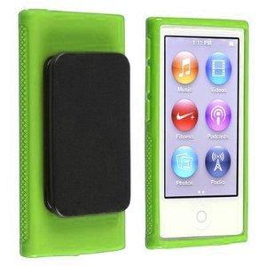 Image 5 - ハイブリッド TPU シリコーンケースアップルの Ipod Nano 7 保護ケース s 7th 世代 Nano7 7 グラムカバー Coques fundas とベルトクリップ黒