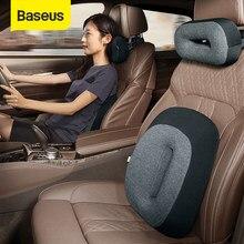 Baseus سيارة مسند الرأس وسادة الخصر ثلاثية الأبعاد رغوة الذاكرة مقعد دعم للمنزل مكتب وسادة العنق تنفس سيارة الظهر مسند لمنطقة أسفل الظهر