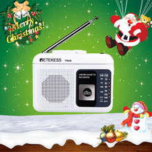 Retekess tr606 cassete reprodução de rádio fm/am gravador de voz de rádio portátil suporte embutido/gravação de microfone externo