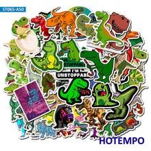 50pcs Waterproof Cartoon Dinosaur Sticker for Boy Children to DIY Gift Scrapbook Motorcycle Desk Stickers