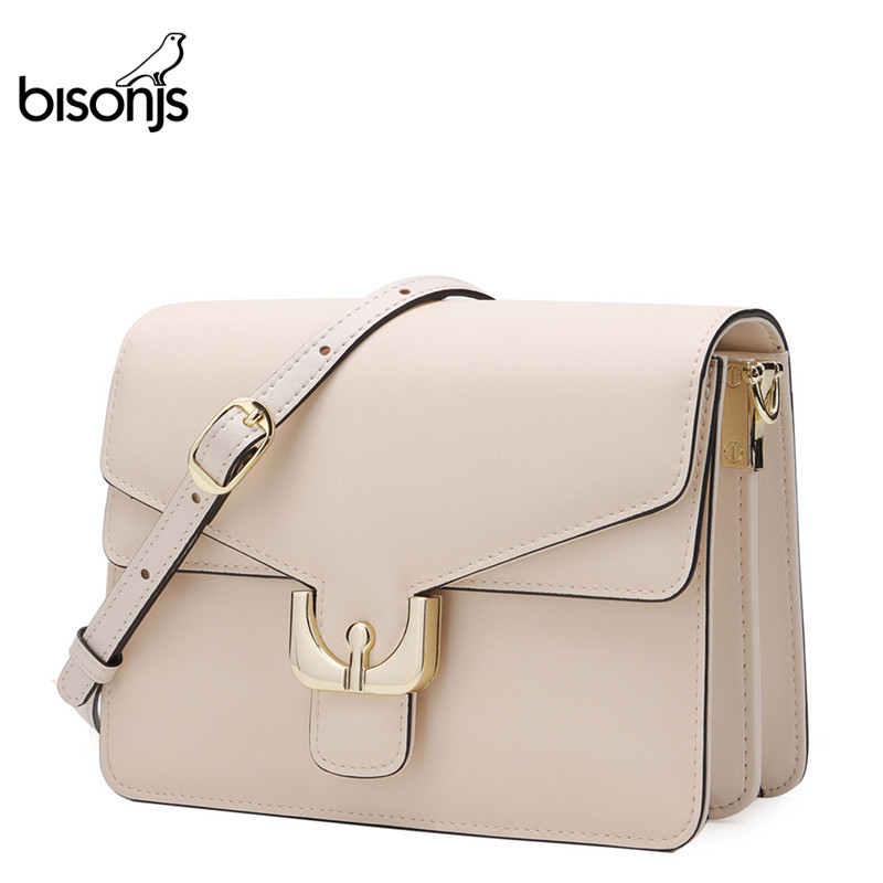 BISON DENIM Female Shoulder Bags Cow Leather Ladies Bag For Women 2019 Luxury Crossbody Bag High Quality Messenger Bag B1624