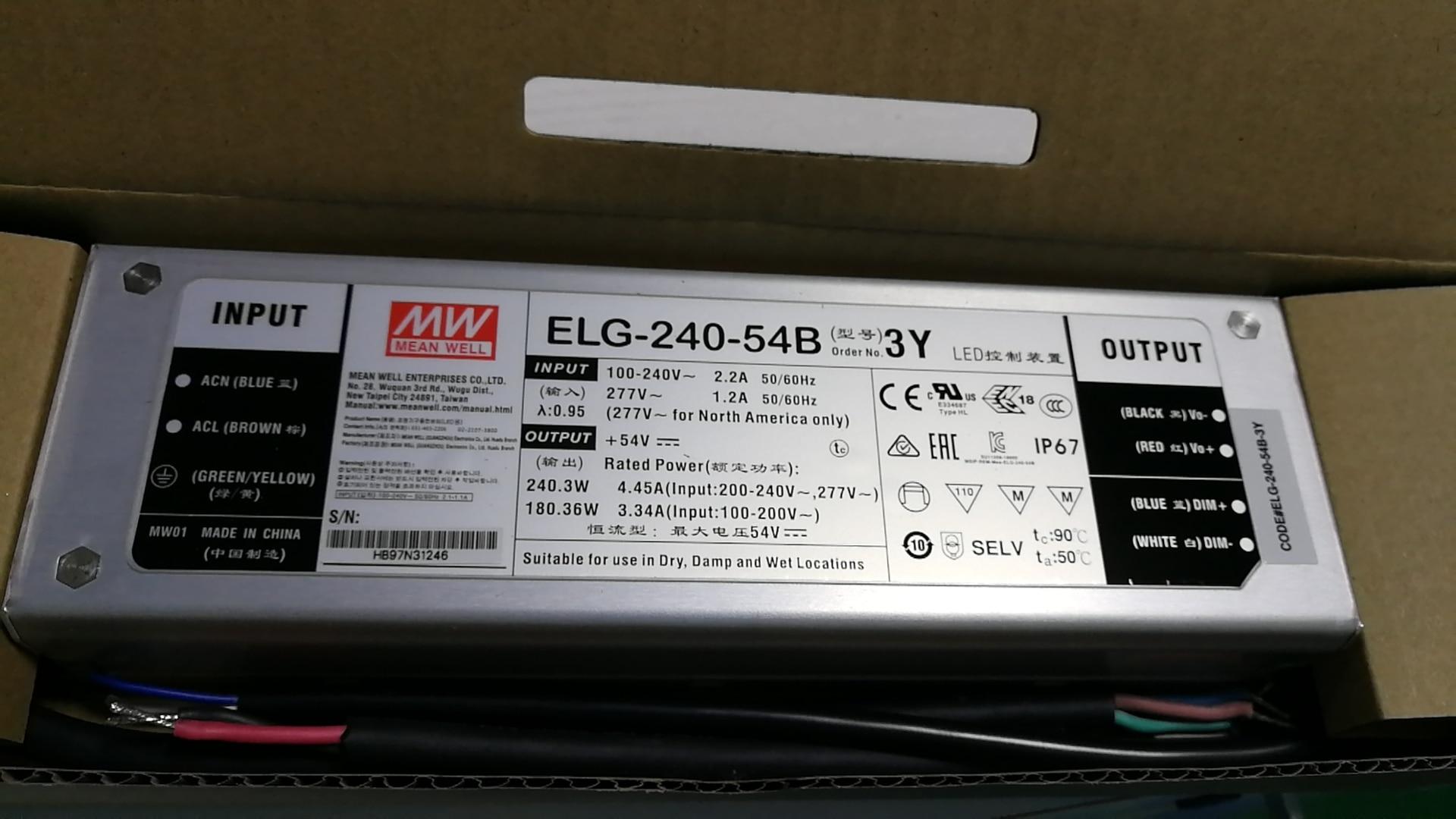 320W Power Supply 54V 5a