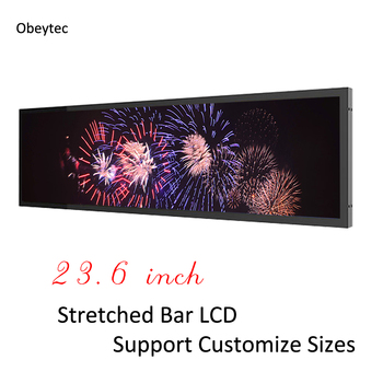 """buy 23.6 """"Ultra Wide Stretched Android Crystal Display, 1920*171 FHD solution, Android 4.4, 1+8 G, view area: 597.6*150 mm"""