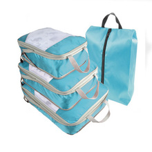 Travel Storage Bag 19inch Suitcase Luggage Organizer Set Hanging Compression Packing Cubes for Clothing Underwear Shoes for 4Pc