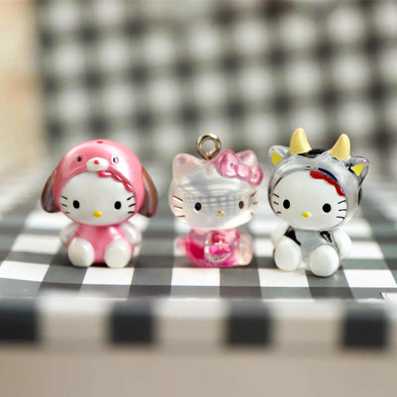 2 6 X Mignon Hello Kitty émaillé charmes-Divers Modèles /& Tailles Nouveau