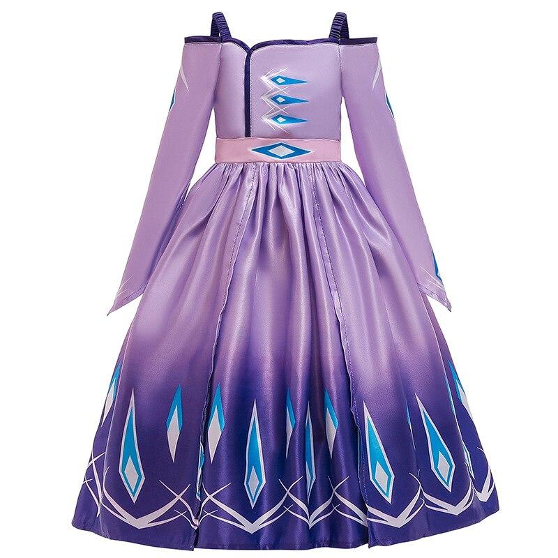 62 42 De Descuentovestido De Princesa Elsa Ropa De Niños Niñas Cosplay Queen Blancanieves Cinderella Rapunzel Aurora Vestidos De Fiesta Para Niños