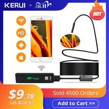 KERUI WIFI Endoscope caméra Mini étanche câble souple caméra dinspection 8mm 1M USB Endoscope Endoscope IOS Endoscope pour Iphone
