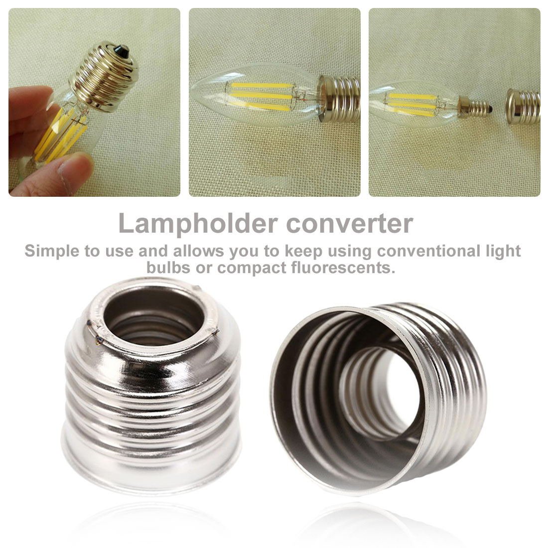 1PC E27 To E14 Lamp Holder Converter Socket Light Bulb Lamp Holder Adapter Plug Extender Led Light