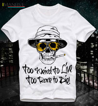 2019 Newest Letter Print Cartoon Hunter Thompson Too Weird To Live Rare Die Faer Loathing Las Vegas Gonzo Crazy T Shirts