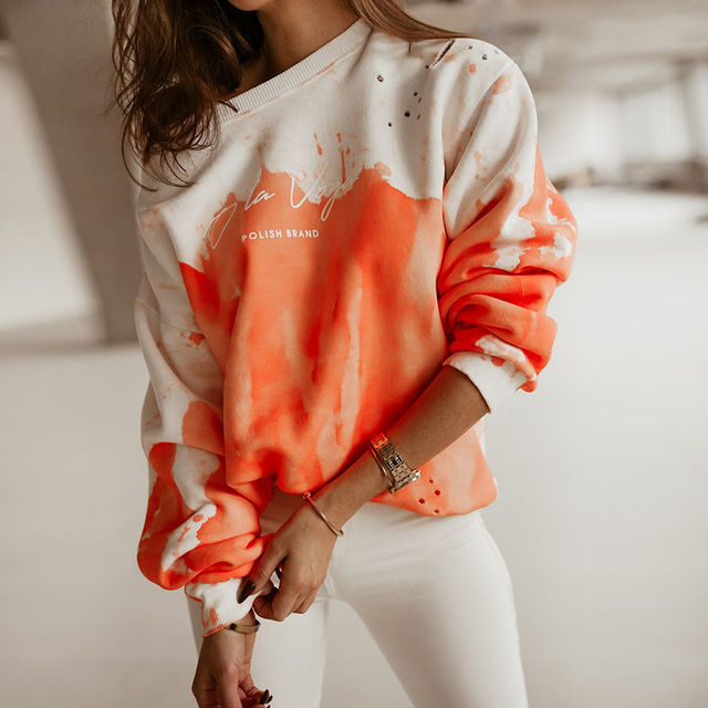 2021 Spring Autumn Women Blouses Shirt Sweatshirts Casual O-Neck Women Tops and Blouse Loose Long Sleeve Print Shirts Pullovers 1