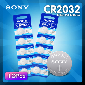 10pcs SONY Original CR2032 DL2032 ECR2032 BR2032 2032 CR 2032 3V Lithium Button cell Coin Battery Long Lasting for Watches