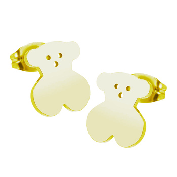 Fashion Jewelry Bear Stainless Steel Factory Wholesale Hollow Simple Earrings Wholesale Aretes De Mujer Modernos 2020 wholesale