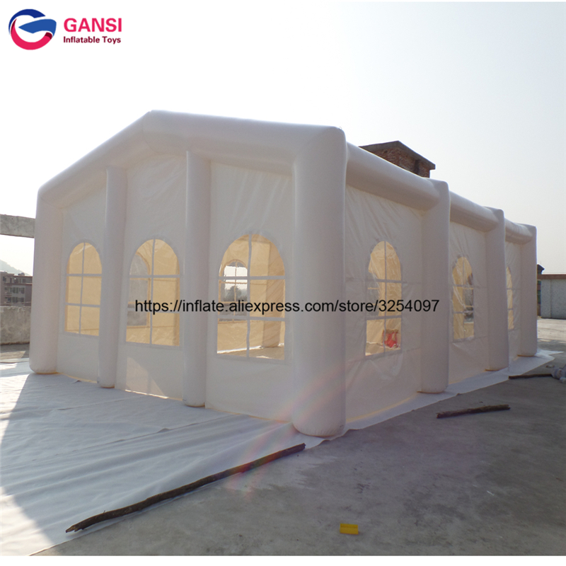 Top Custom White Inflatable Glass Marquee Wedding Party Tent Inflatable Wedding Tent / Inflatable Tent For Party