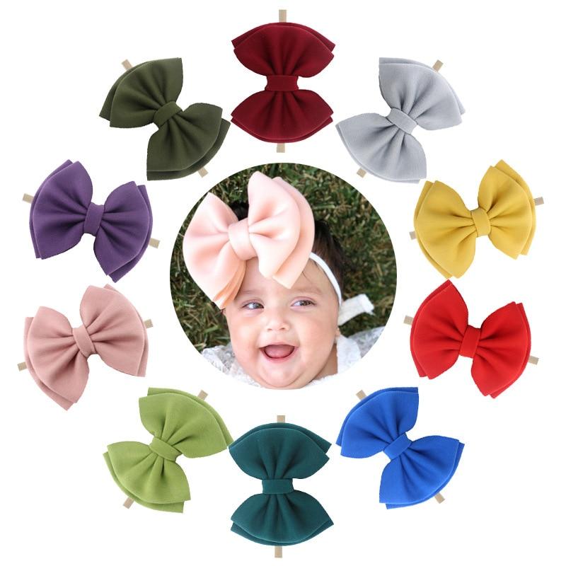 Baby Girl Headbands Newborn Baby Accessories Puff Newborn Big Baby Bows Haarband Opaski Dla Niemowlaka Baby Turban Headwraps