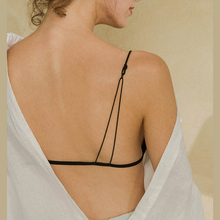 Fashion of French Backless Bra with Slender Shoulder Strap and Beautiful Back Front Button Ultra-thin