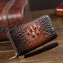 Genuine Leather Men Crocodile Wallets for Credit Card Holder Clutch Male bags Coin Purse Male Long  Purses carteira masculina new alligator 100% genuine leather men wallets long man purses vintage brand male money bag retro carteira masculina card holder
