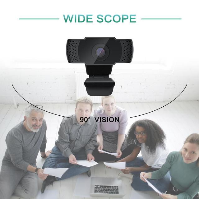 BENTOBEN HD 1080P Webcam with Microphone Auto Focus Video Record WebCamera for PC Gamer Streaming YouTube Conference Work 6