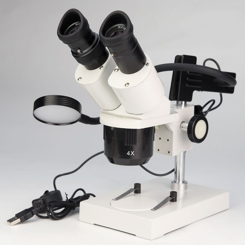 Mobile Phone Repairing PCB Soldering Stereo Binocular Microscope with Light for Jewelry Identify