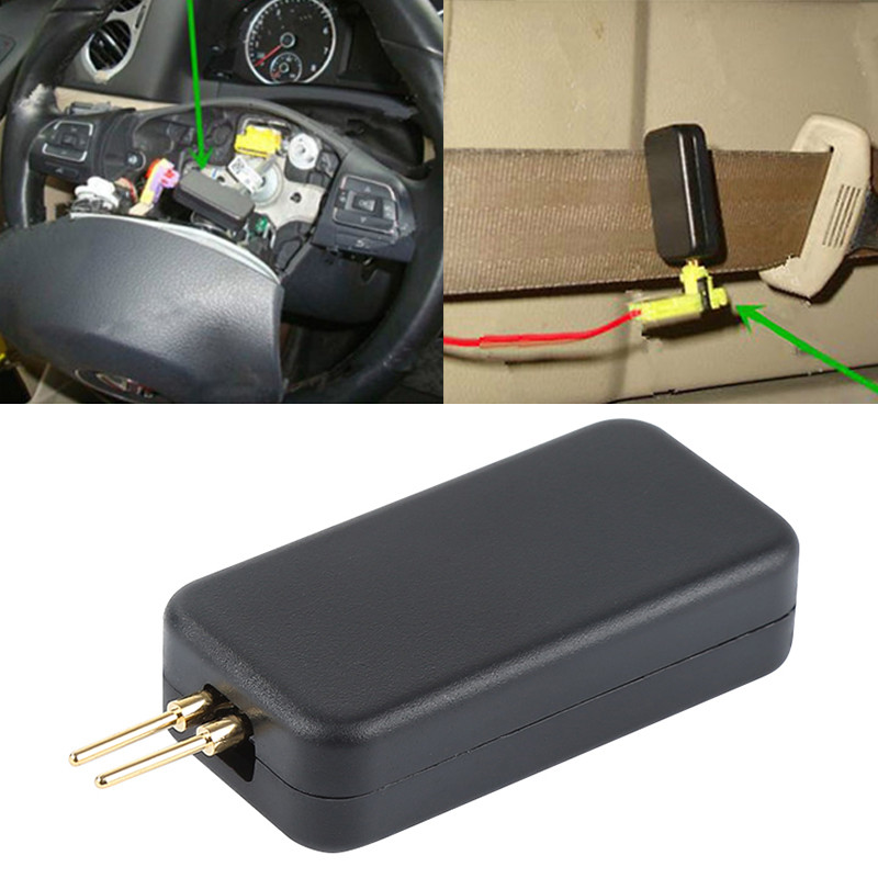 TOSPRA Universal Car Airbag Inspection Tool SRS Quickly Detect Faults Troubleshoot Tool Car Vehicle Accessories Black