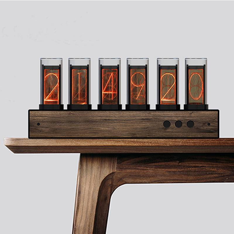 super bright glow tube digital clock,Glow light analog Tube Clock, Steampunk Retro LED Color Change Clock