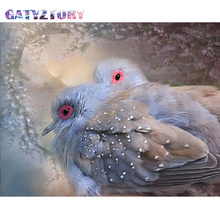 GATYZTORY  Diamond Embroidery birds Diamond Painting Pictures Of Rhinestones Diamond Mosaic Sale Full Square Drill Art Animals gatyztory diamond embroidery dogs diamond painting pictures of rhinestones diamond mosaic sale full square drill art animals