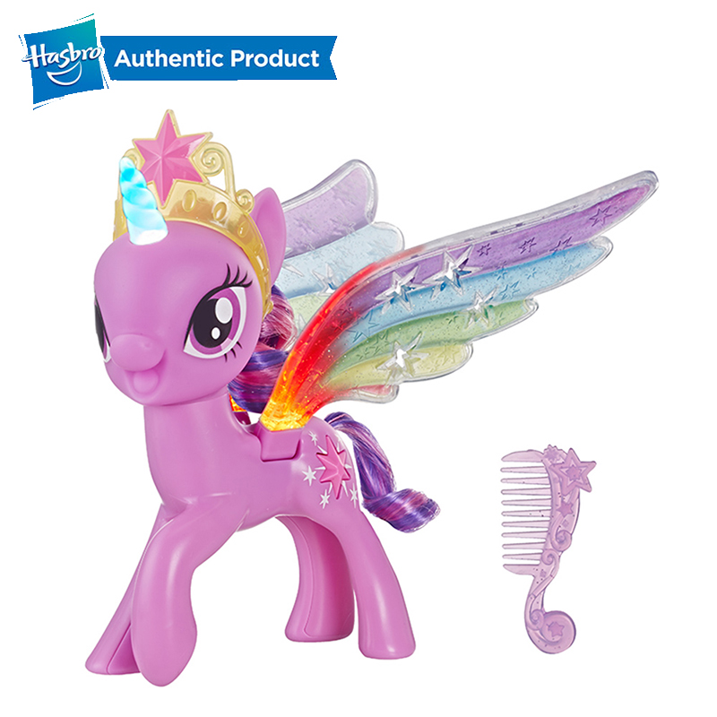 Hasbro My Little Pony Rainbow Wings Twilight Sparkle Pony Figure With Lights and Moving Wings Top Birthday Gifts For Kids