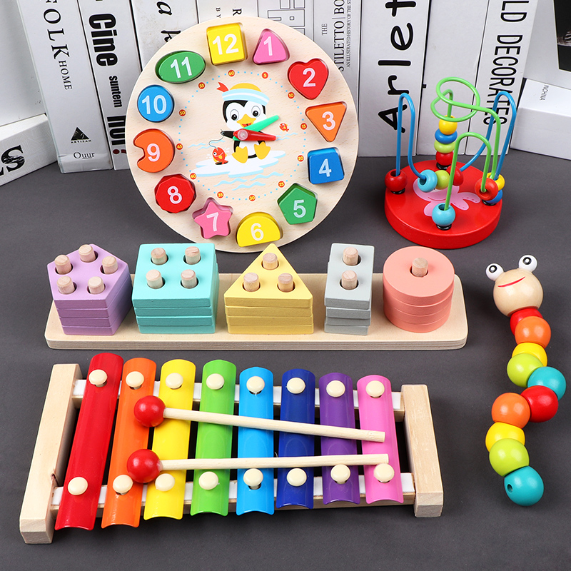 Infant Children's Octave Hand Knocking Piano Xylophone Musical Instrument 1-3 Years Old Baby Educational Early Education Toys