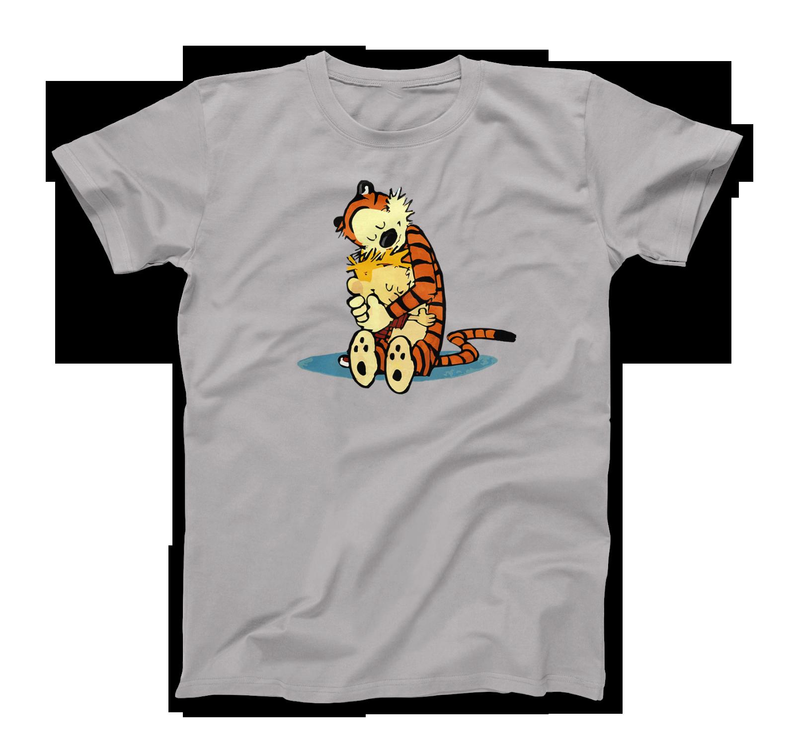 Calvin Hobbes Hugging T Shirt Men Women From The Cult And Classic Newspaper Comics All Size Tee Shirt