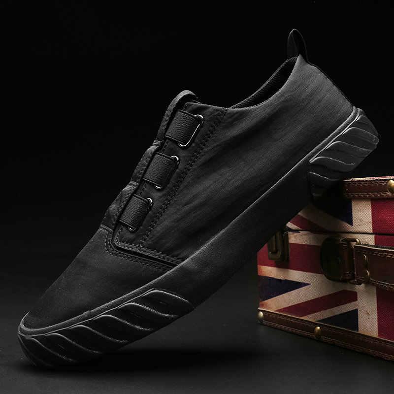 ผู้ชายรองเท้าผ้าใบลำลอง breathable น้ำหนักเบาสี flatsshoes นักเรียน slip on loafers ขับรถรองเท้า A56-71