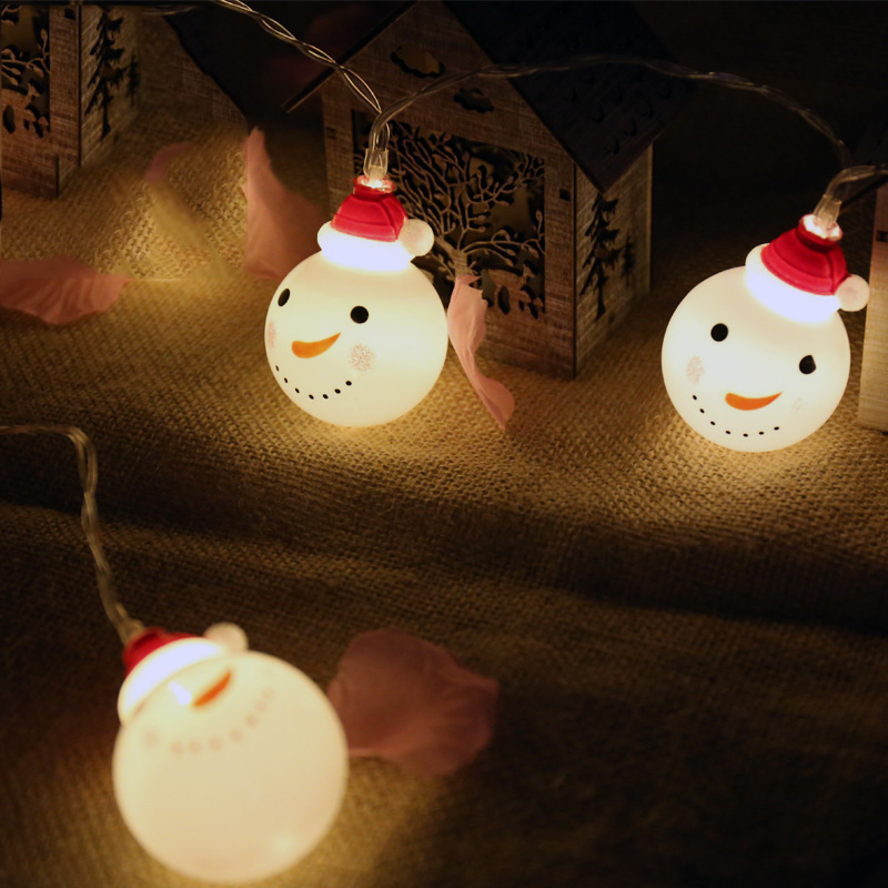 3M 20LED Snowman String Lights Christmas Love Fairy Garlands Outdoor Battery Flash For Holiday Xmas Party Garden Decor in Holiday Lighting from Lights Lighting