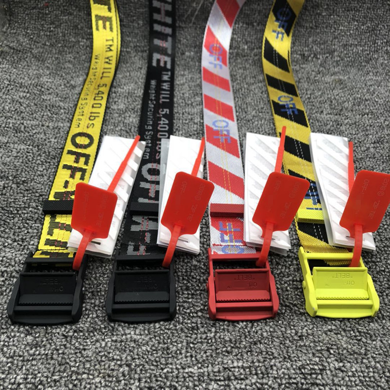 Off White Belt Tooling Style Letter Printed Fashion Unisex Ring Canvas Strap Female Long Belts Jeans Belts