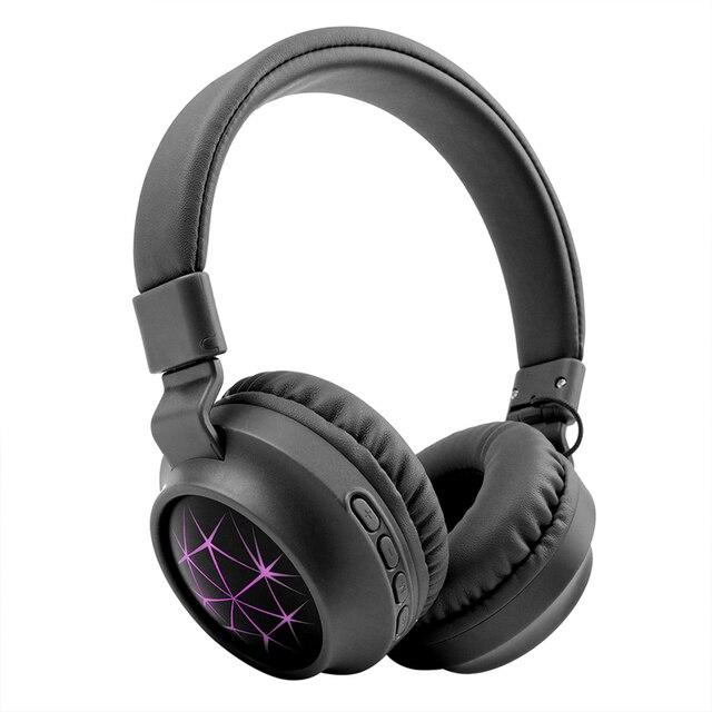MS k21 נייד אלחוטי אוזניות Bluetooth סטריאו מתקפל אוזניות אודיו Mp3 מתכוונן אוזניות עם מיקרופון עבור מוסיקה