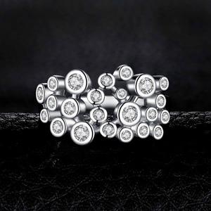 Image 2 - Jewelrypalace 巨大なキュービックジルコニアリング 925 スターリングシルバーリング女性用スタッカブルリングシルバー 925 ジュエリーファインジュエリー