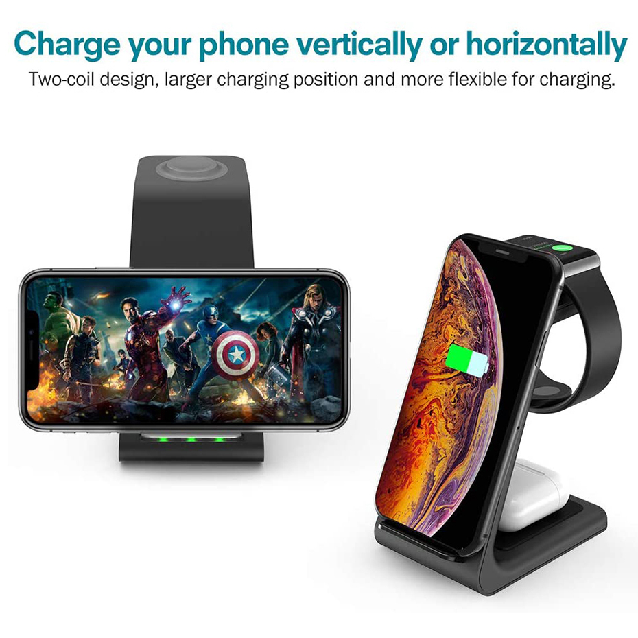 Bonola 3 in 1 Wireless Charger For iPhone  (7)