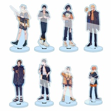 15 cm Anime Haikyuu!! Akrylowy stojak na biurko Model figurki stół płyta Decor figurki zabawki Anime działania fani prezenty tanie tanio discountHEH CN (pochodzenie) NLVSXTF37340 10-15cm