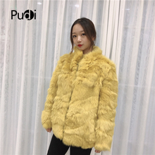 Pudi TX307703 women winter classic Leisure Real sheep fur coat jacket overcoat lady fashion genuine fur coat outwear все цены