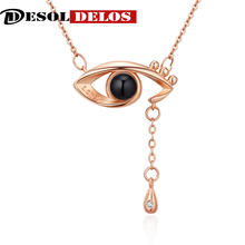 2019 New Arrival Rose Gold&Silver 100 languages Projection Pendant Necklace Eye Romantic I love you Memory Wedding Necklace nowodvorski eye silver i zwis m