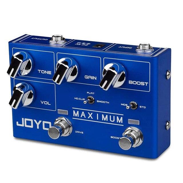 JOYO R-05 effet de pédale doverdrive Maximum avec lecteur & Boost pédale de guitare double canal pour effet de guitare électrique véritable contournement
