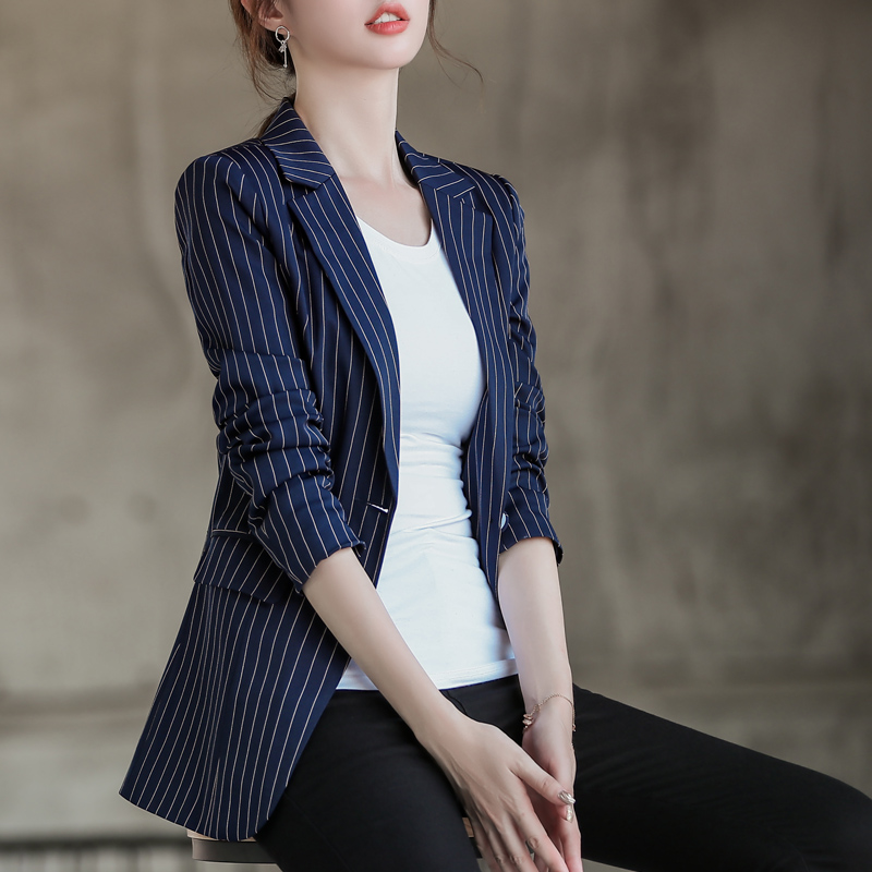 Liser Small Suit Jacket Female Slim Slimming 2019 New Spring And Autumn Net Red Suit Ladies Shirt Casual Wild Comfortable
