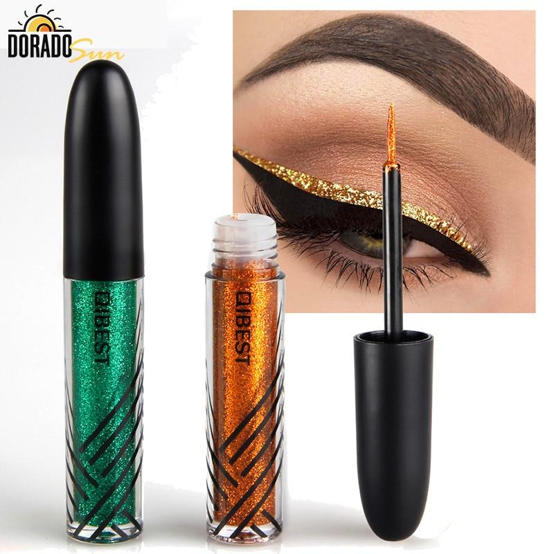 Doradosun Waterproof Liquid Eyeliner Flash Sequins Shadow Glitters Party Makeup Eyeliner